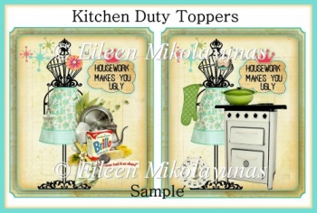 Kitchen Duty Set of 2 Toppers