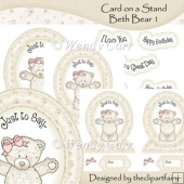 Card on a Stand - Beth Bear 1(Retiring in July)