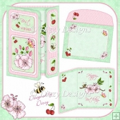 Cherry Blossom Gatefold Card