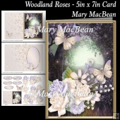 Woodland Roses - 5in x 7in Card
