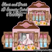 Shoes and Dress 3D Scenery Card & Envelope