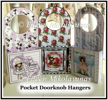 Valentine Pocket Doorknob Hangers Set of 3