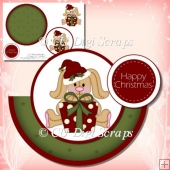Christmas Bunny Rocker Card