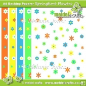 Springtime Flowers Backing Papers