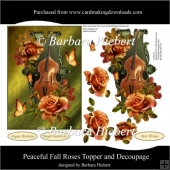 Peaceful Fall Roses Topper and Decoupage