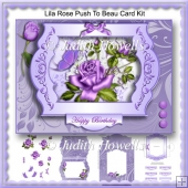 Lilac Rose Push To Beau Card Kit