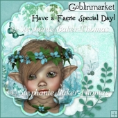 Have a Faerie Special Day Decoupage Scalloped Card