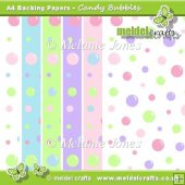 Candy Bubbles Backing Papers