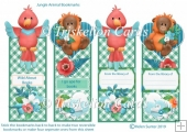 Jungle Animals Parrot and Orangutan Over the Edge Bookmarks