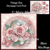 Vintage Posy Decoupage Card Front