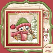 Robin's Bauble 8x8 Christmas Decoupage Kit