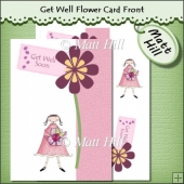 Get Well Flower Card Front 5 x 7