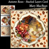 Autumn Roses - Stacked Layers Card