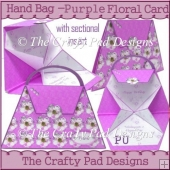 Handbag - Purple Floral Card