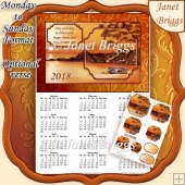 SUNSET BEACH 2018 A4 UK Calendar with Pyramage Kit