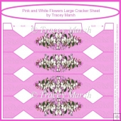 Pink and White Flowers Large Cracker Sheet
