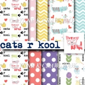 CATS R KOOL - high quality digital papers 8 x A4 printable