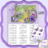 Woodland Walk 2017 A4 UK Calendar with Decoupage Kit