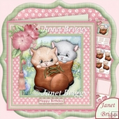 Kitten Boots 8x8 Cats Decoupage Kit