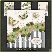Vintage Stripes and Flowers Card Kit 1092