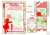 Sweet HELLO Card Insert Panel, Envelope, and Tag