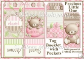 Precious Little One Tag Booklet Greeting Card Set