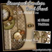 Steampunk Envelope Card Front