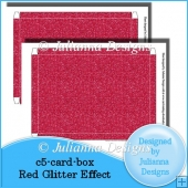 C5 Card Box Red Glitter Effect