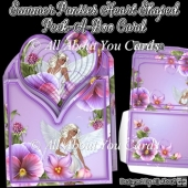 Summer Pansies Heart Shaped Peek-A-Boo Card