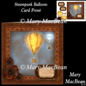 Steampunk Balloons Card Front