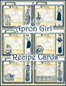 Apron Girl Vintage Recipe Card Set