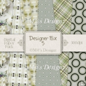 Designer Mix Set 5 12x12 Papers