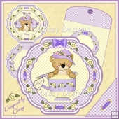Teacup Bear - Shaped Card