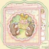 Hedgehogs Presents 7.5 Decoupage Kit