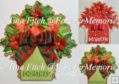Poinsettia Pot Card TF0310, SVG,CAMEO, CRICUT,ScanNCut