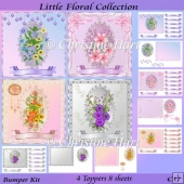 Little Floral Collection Bumper Kit CU