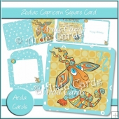 Zodiac Capricorn Square Card