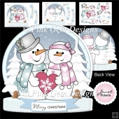Chilly in Love Shaped Card