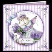 Lavender For Ewe Card & freebie Gift Card