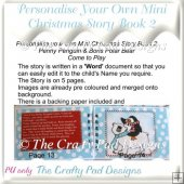 Personalize Your Own Mini Christmas Story Book 2