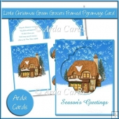 Little Christmas Green Grocers Framed Pyramage Card