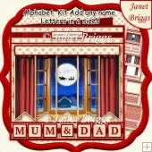 THROUGH THE WINDOW Christmas 7.5 Quick Card Kit Create Any Name