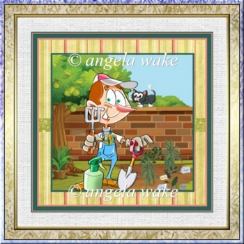 The herb garden 7x7 card with decoupage