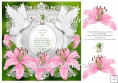 Emerald Wedding Anniversary 8 x 8 Floral Pink Lily Decoupage Car