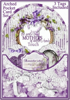 A Mother's Hand Arched Pocket Card with Tags