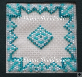 Aqua Aztec Beaded Fridge Magnet Pattern Chart And Instructions