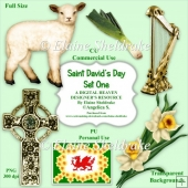 Saint Davids Day - Set One - CU Designer Resource For CU/PU