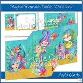 Magical Mermaids Z Fold Card