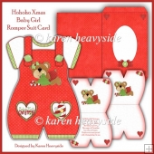 Hohoho Xmas Baby Girl Romper Suit Card