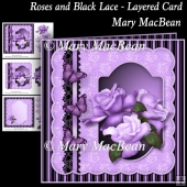 Roses and Black Lace - Layered Card